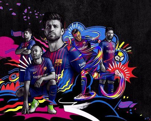 رونمایی نایک از لباس اول بارسلونا 18-2017