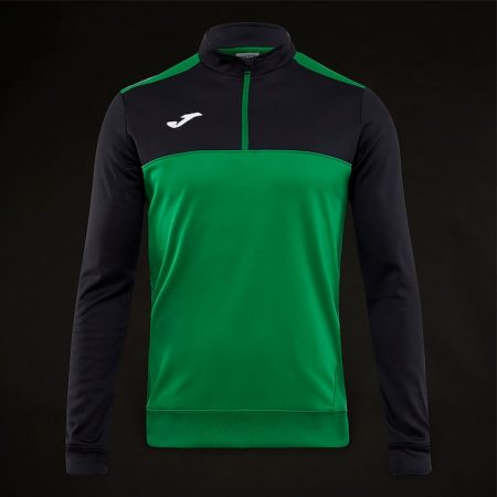 Joma-Winner-1-2-Zip-Sweatshirt-Green-Black