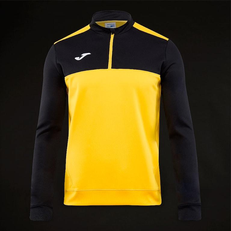 Joma-Winner-1-2-Zip-Sweatshirt-Yellow-Black