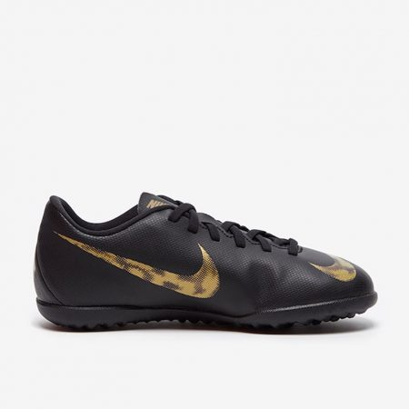 Nike-Kids-Mercurial-Vapor-XII-Club-TF-Black-Metallic-Gold