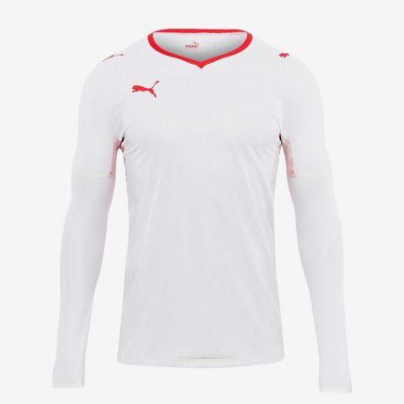 Puma-V108-LS-Shirt-White-Red