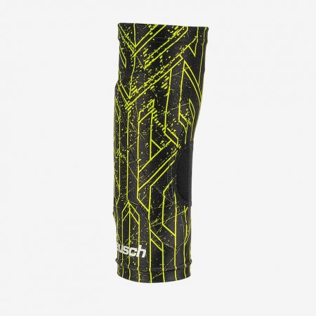 Reusch-Supreme-Knee-Protector-Sleeve-Accessories-Knee-Pads-Black-Lime-Green