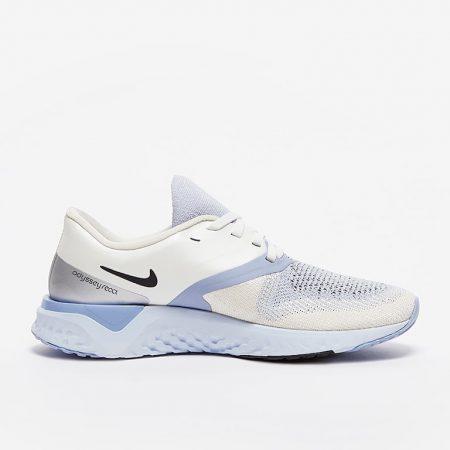 Nike-Womens-Odyssey-React-2-Flyknit-Metallic-Silver