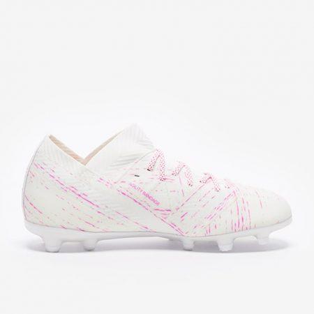 adidas-Kids-Nemeziz-181-FG-White-Shock-Pink