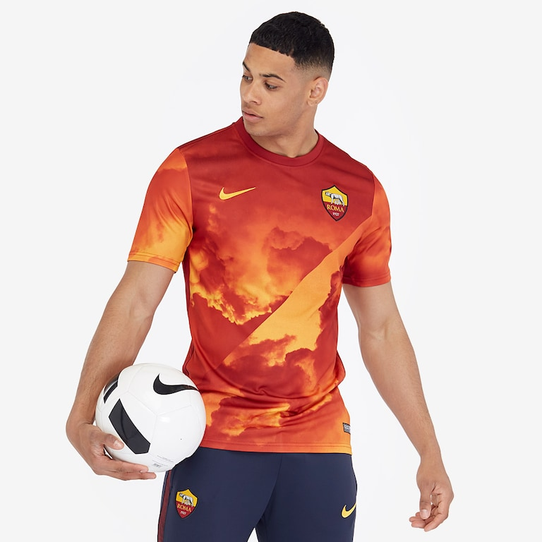 Nike-AS-Roma-2019-20-Dry-SS-Top-University-Gold