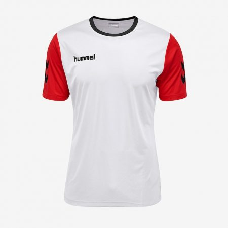 Hummel-Core-Hybrid-Match-Jersey-White-True-Red-Black