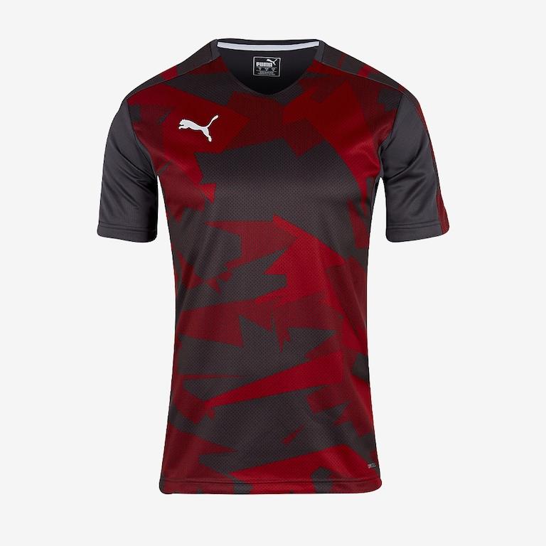 Puma-Training-Jersey-Black-Red-