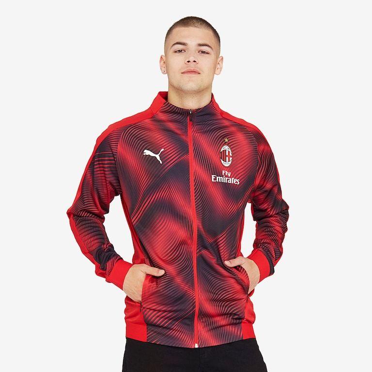Puma-AC-Milan-19-20-Stadium-Jacket-Tango-Red