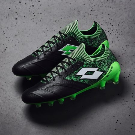 Lotto-Stadio-100-II-FG-Black-White-Spring-Green