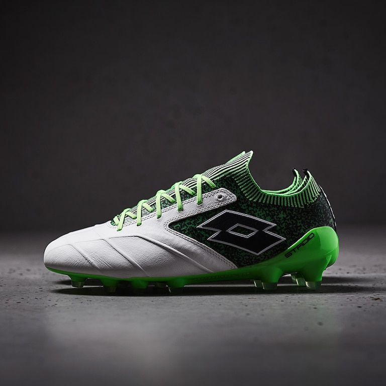 Lotto-Stadio-100-II-FG-White-Black-Spring-Green
