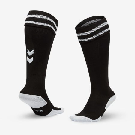 Hummel-Element-Football-Sock-Black-White